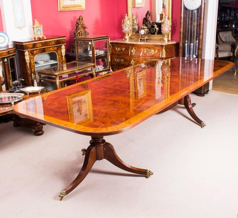Most Current Dining Table And 10 Chairs With Regard To Flame Mahogany Regency Style Dining Table And Ten Chairs At 1stdibs (View 20 of 20)
