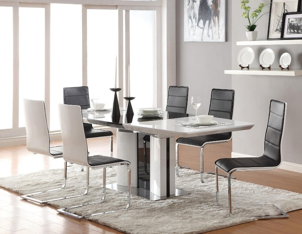 Most Current Dining Tables: Interesting Contemporary Dining Table Set Modern 7 In Cheap Contemporary Dining Tables (View 15 of 20)