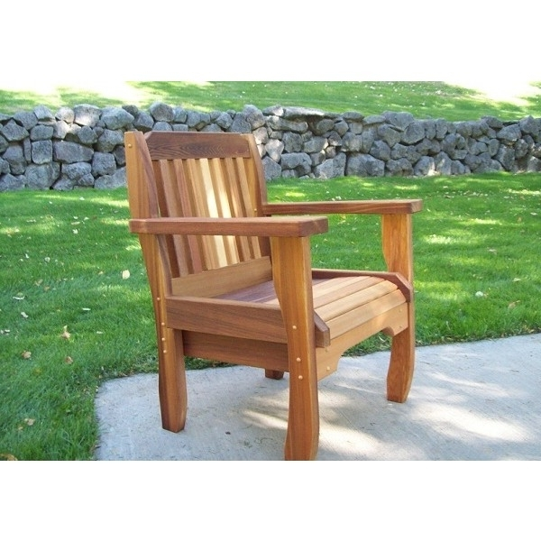 Most Current Green Cedar Dining Chairs Inside Wood Country Cabbage Hill Chair Cedar Outdoor Furniture 1Ch B – Free (View 11 of 20)