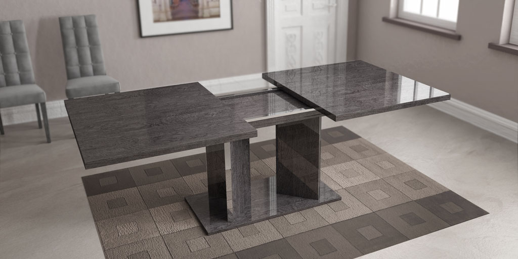 Most Current Grey Finished Dining Table Imported And Made In Italy Toledo Ohio Ahsar Regarding Grey Dining Tables (Gallery 13 of 20)