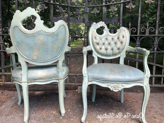 Most Current Hollywood Regency Arm Side Chairs French Rocco Arm Chairs (View 7 of 20)