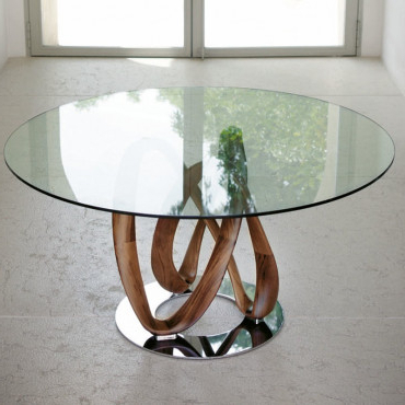 Most Current Lassen Round Dining Tables For Porada Infinity Round Dining Table 130Cm (View 14 of 20)