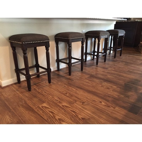 Most Current Laurent 7 Piece Counter Sets With Upholstered Counterstools For Shop Carbon Loft Branson Coffee Counter Stools (Set Of 2) – Free (View 8 of 20)