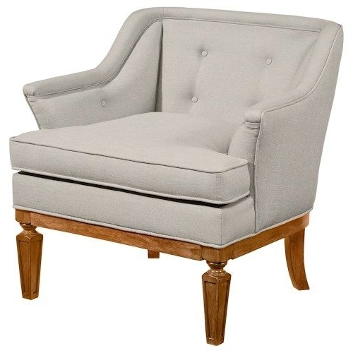 Most Current Magnolia Homejoanna Gaines Accent Chairs Cotillion Upholstered Pertaining To Magnolia Home Demi Flannel Wing Side Chairs (View 15 of 20)