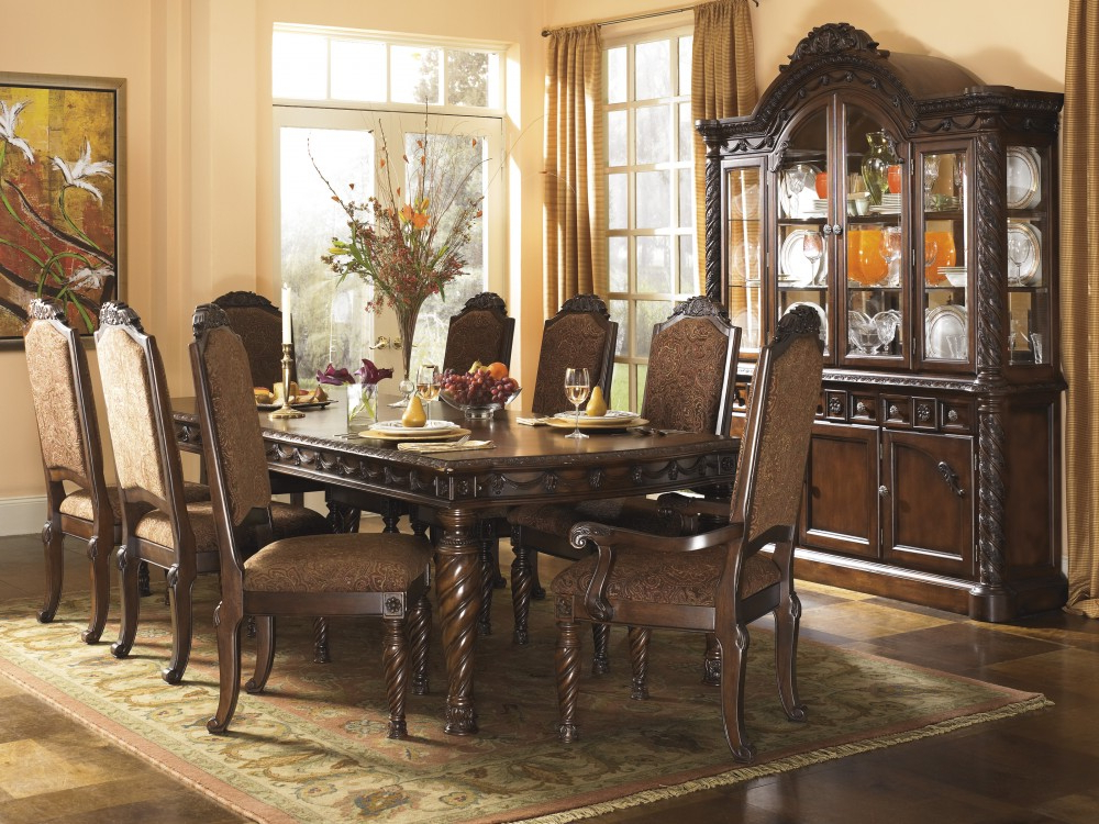 Most Current Market 6 Piece Dining Sets With Side Chairs With Regard To North Shore Rect Dining Room Ext Table & 6 Uph Side Chairs (View 11 of 20)