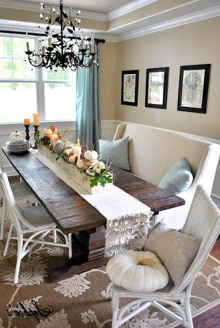 Most Current Market 7 Piece Dining Sets With Host And Side Chairs Regarding Centerpieces And Table Decors Capture Fall's Beauty (View 10 of 20)