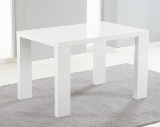 Most Current Metz 120Cm White High Gloss Dining Table With White Gloss Dining Tables 120Cm (View 8 of 20)