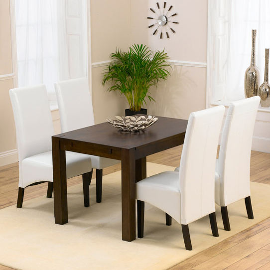 Most Current Milan Dark Oak Dining Table And 4 Verona Chairs 13942 Throughout Verona Dining Tables (View 6 of 20)