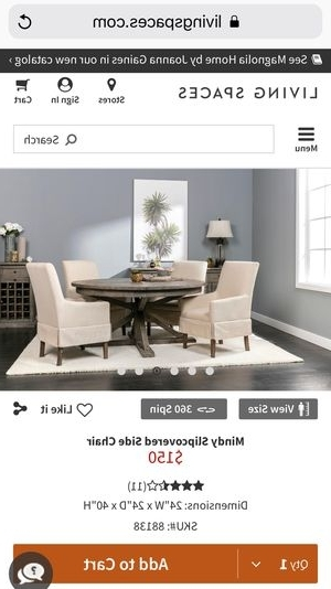Most Current Mindy Slipcovered Side Chairs With Regard To Restoration Hardware Rh Wood Round Dining Table With 4 Living Spaces (View 11 of 20)