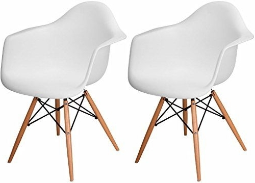 Most Current Mod Made Paris Tower Arm Chair Wood Leg, White, Set Of 2 Mod Made For Mod Ii Arm Chairs (View 4 of 20)