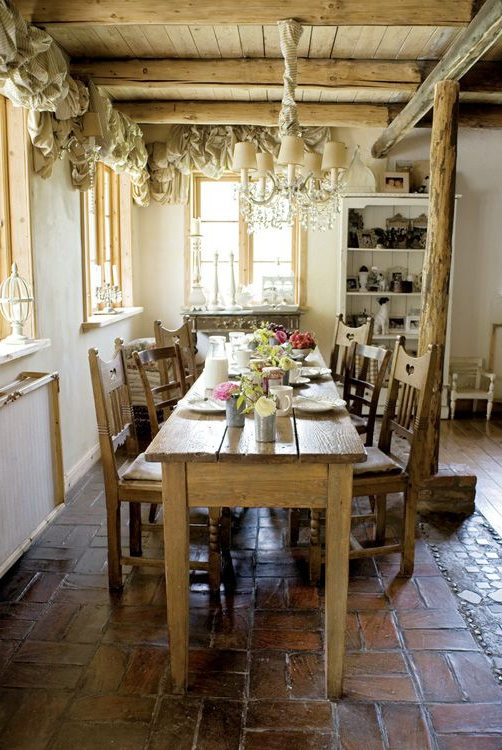 Most Current Narrow Dining Tables With I Really Like The Long Narrow Look Of The Table (View 9 of 20)