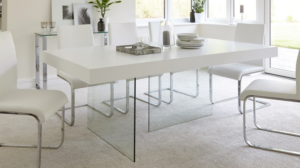 Most Current Next White Dining Tables Inside Modern White Oak Dining Table (View 11 of 20)