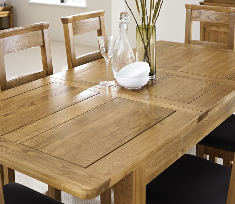 Most Current Oak Extendable Dining Tables And Chairs Within London Dark Oak Extending Dining Table With Four Chairs – Package (View 8 of 20)
