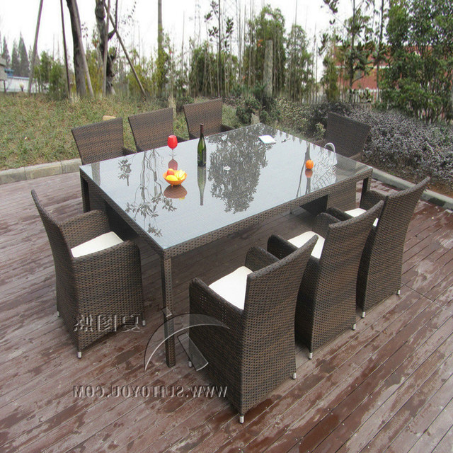 Most Current Online Shop 9Pcs Rattan Conservatory Furniture , Bistro / Kitchen Regarding Kitchen Dining Sets (View 16 of 20)