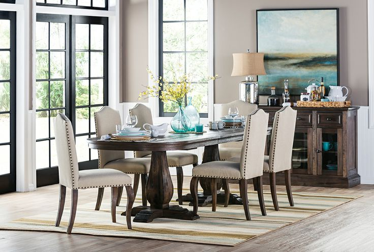 Most Current Palazzo 7 Piece Dining Sets With Mindy Slipcovered Side Chairs Intended For 48 Best Mountain Bridge Images On Pinterest (View 15 of 20)