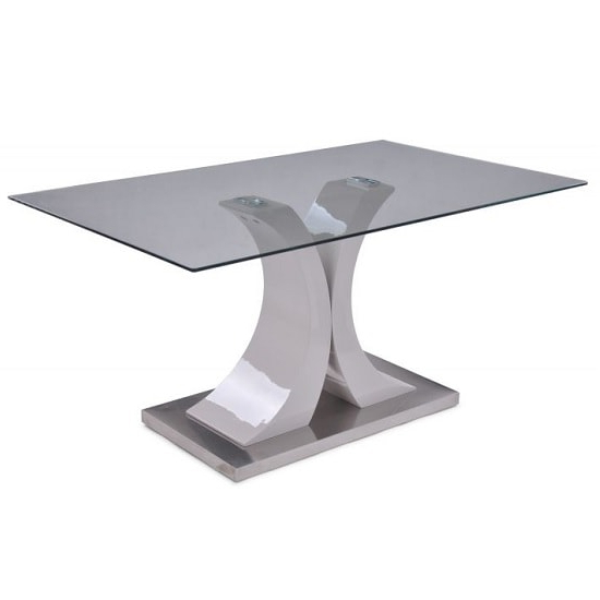 Most Current Palazzo Modern Glass Dining Table Rectangular In Clear Intended For Palazzo Rectangle Dining Tables (View 8 of 20)