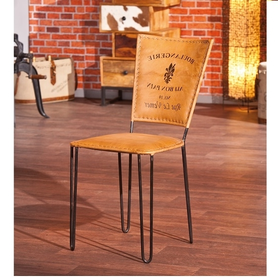 Most Current Plywood & Metal Brown Dining Chairs Intended For Rosi Dining Chair Leather French Design Metal Frame Set Of (View 8 of 20)