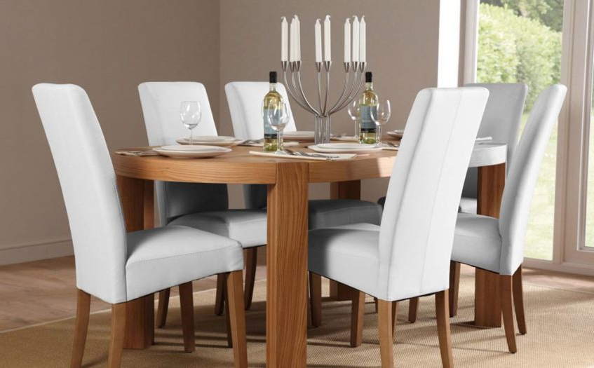 Most Current Preview Medium: Grey Dining Chair Trend Including Room Chairs White Within White Leather Dining Room Chairs (View 13 of 20)