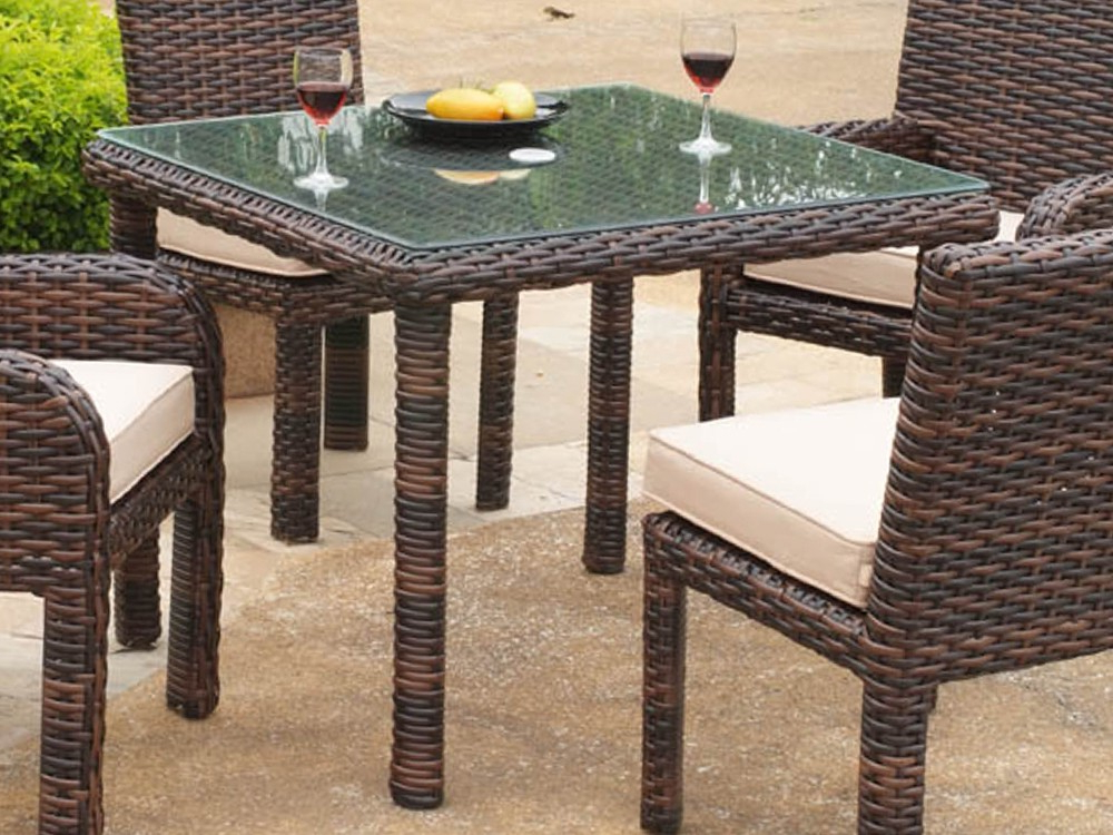 Most Current Rattan Dining Tables Throughout South Sea Rattan Saint Tropez Wicker Square Dining Table – Wicker (View 8 of 20)