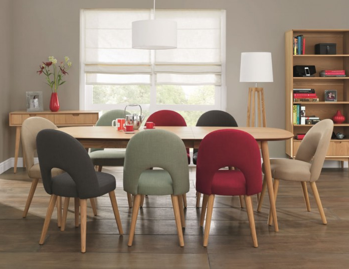 Most Current Retro Extending Dining Tables With Regard To Orbit Oak Extending Retro Dining Table And Chairs (View 5 of 20)