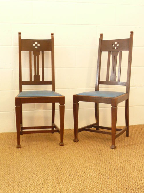 Most Current Set Of 8 Arts Crafts Glasgow Oak Dining Chairs – Antiques Atlas Within Glasgow Dining Sets (View 11 of 20)