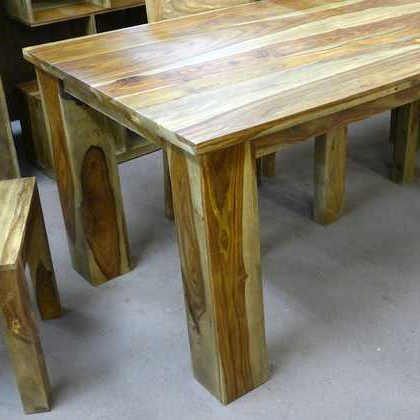 Most Current Sheesham Dining Tables And Chairs With Regard To Kota Sheesham Dining Table 90 X 90 – Jugs Furniture (View 5 of 20)