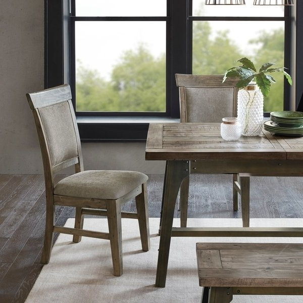 Most Current Shop Ink Ivy Oliver Natural/grey Dining Side Chair(set Of 2pcs For Oliver Side Chairs (View 8 of 20)