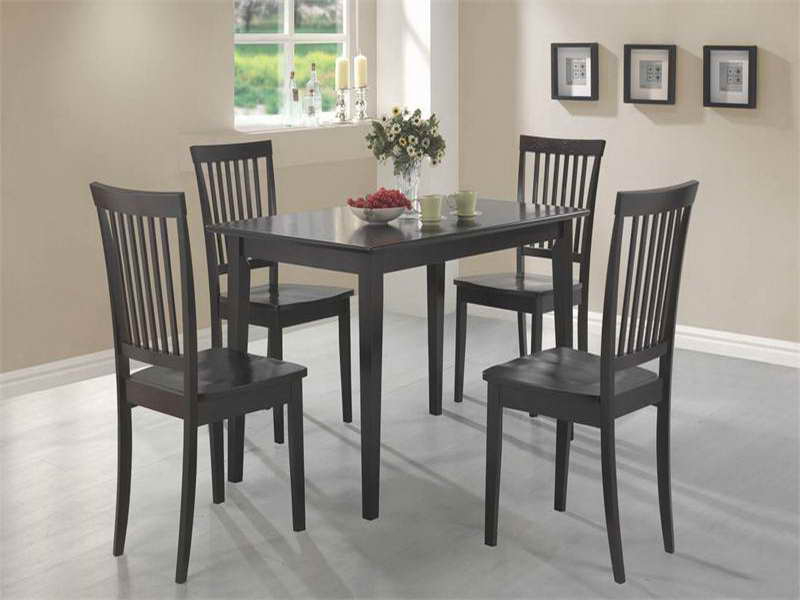 Most Current Small Dark Wood Dining Tables With Charming Small Black Dining Table And Chairs Small Dining Room (View 17 of 20)