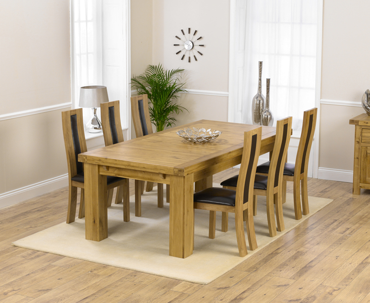 Most Current Solid Oak Dining Tables And 6 Chairs In Loire 230Cm Solid Oak Extending Dining Table With Toronto Chairs (View 8 of 20)