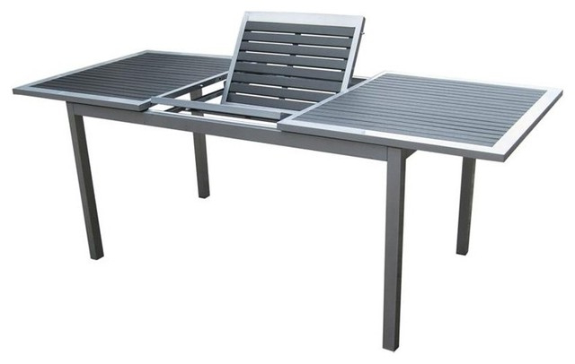 Most Current Urbanfurnishing Net Eco Wood Extendable Outdoor Dining Table As Throughout Outdoor Extendable Dining Tables (View 11 of 20)