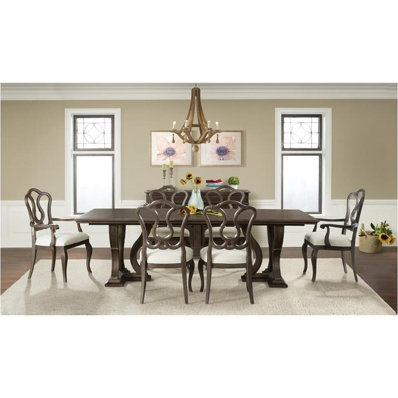 Most Current Verona Dining Tables Pertaining To 24950 Riverside Furniture Verona Dark Sienna Trestle Dining Table (Gallery 8 of 20)