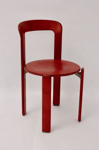 Most Current Vintage Red Dining Chairsbruno Rey For Kusch & Co, Set Of 4 For Inside Red Dining Chairs (View 16 of 20)