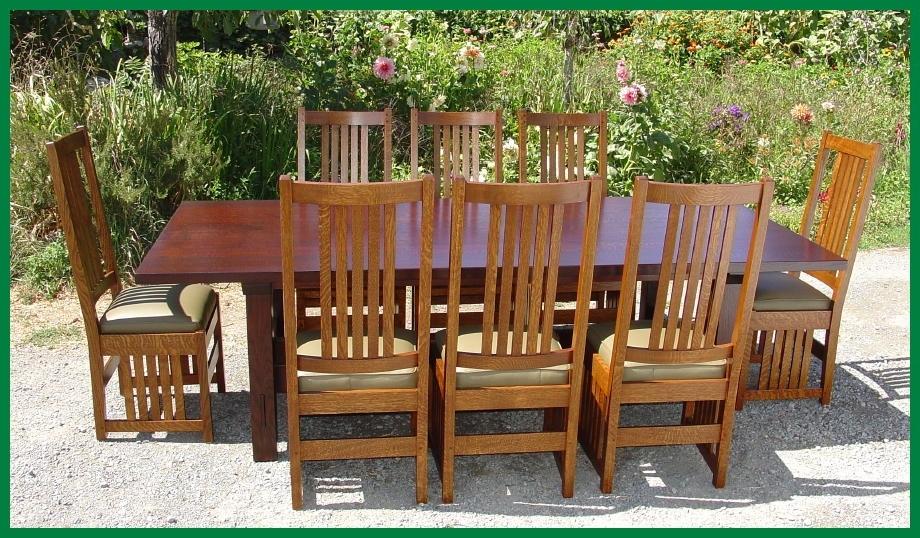 Most Current Voorhees Craftsman Mission Oak Furniture – L. & J. G (View 12 of 20)