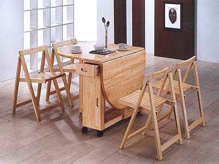 Most Current Wood Folding Dining Tables With Regard To (View 3 of 20)