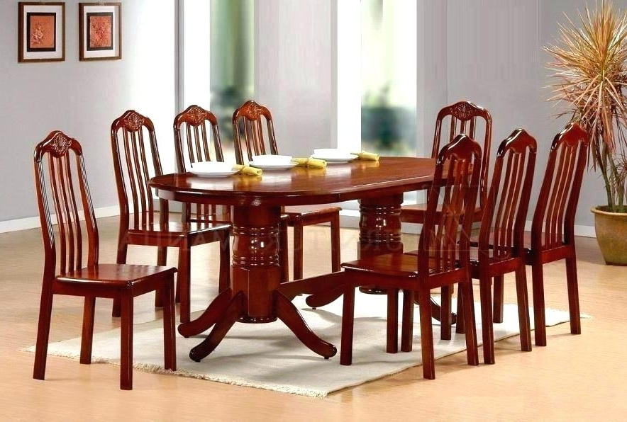 Most Popular 8 Seater Black Dining Tables For 8 Seater Round Table And Chairs Stunning Dining Sets Room S Chair (View 15 of 20)