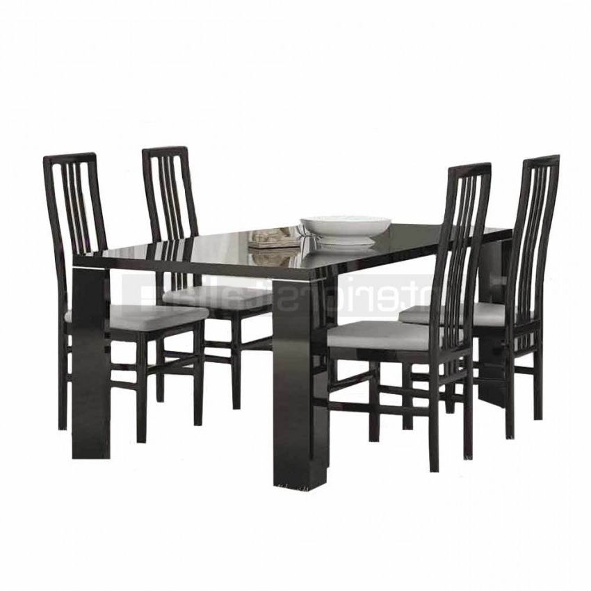 Most Popular Black High Gloss Dining Chairs Within Black Gloss Dining Sets (View 2 of 20)