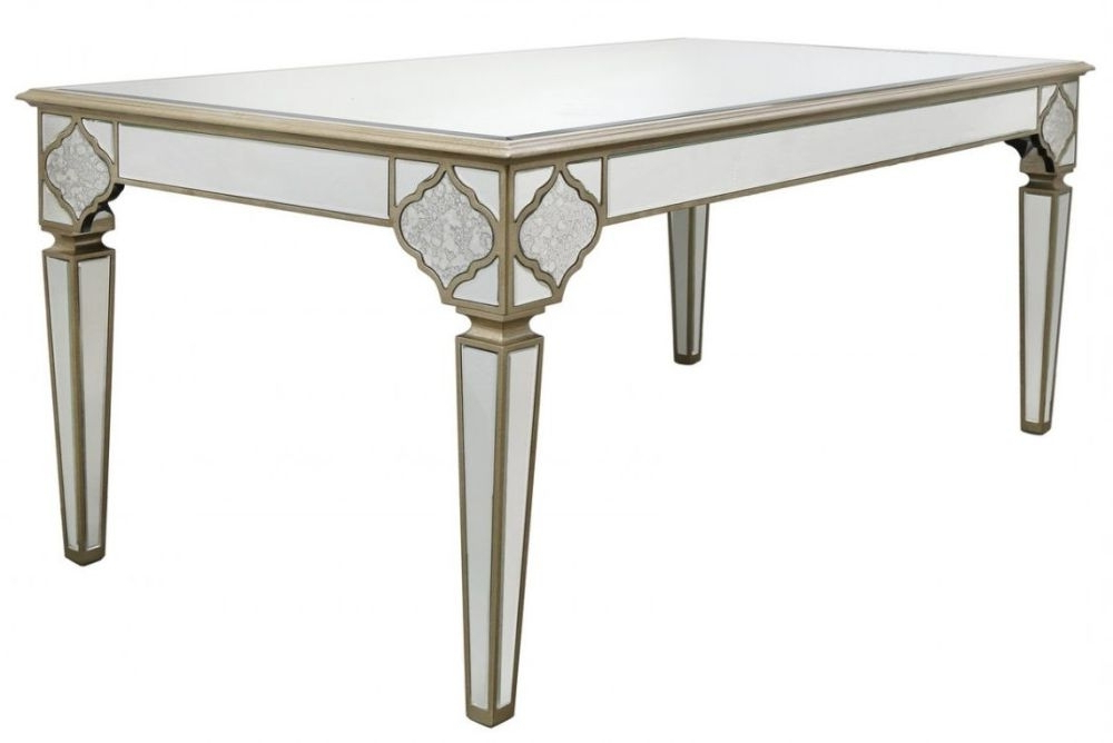 Most Popular Buy Morocco Mirrored Rectangular Dining Table – 180Cm Online – Cfs Uk With Mirrored Dining Tables (View 8 of 20)
