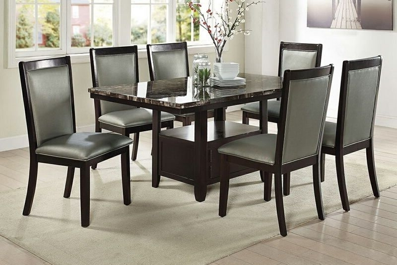 Most Popular Caira 7 Piece Rectangular Dining Sets With Diamond Back Side Chairs Inside Lätt Bockbord Att Bygga, Rundstav Som Fixerar Planken, Lät (View 16 of 20)