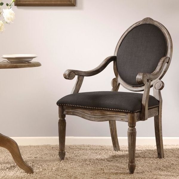 Most Popular Caira Black Upholstered Diamond Back Side Chairs With Shop Maison Rouge Brentwood Grey Dining Armchair – Free Shipping (View 14 of 20)