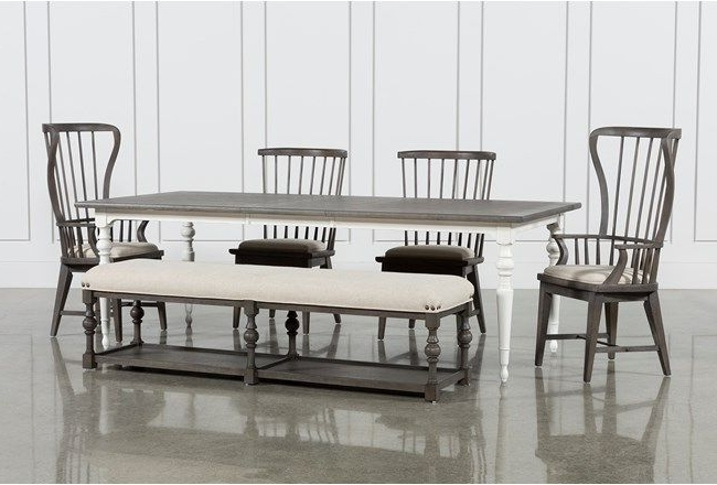Most Popular Candice Ii 6 Piece Extension Rectangle Dining Set (View 16 of 20)