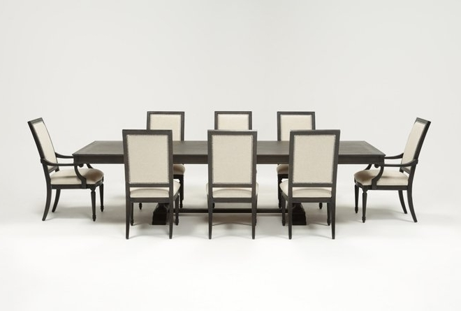 Most Popular Chapleau Ii 7 Piece Extension Dining Tables With Side Chairs Inside Chapleau 9 Piece Extension Dining Set (View 16 of 20)