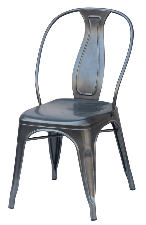 Most Popular Charcoal Industrial Dining Chair (2400104) – Reservation Seating Intended For Charcoal Dining Chairs (View 15 of 20)