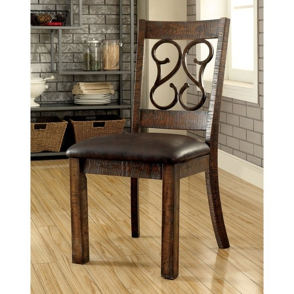 Most Popular Chester Dining Chairs Throughout Shop Furniture Of America Chester Traditional Scrolled Metal (View 14 of 20)