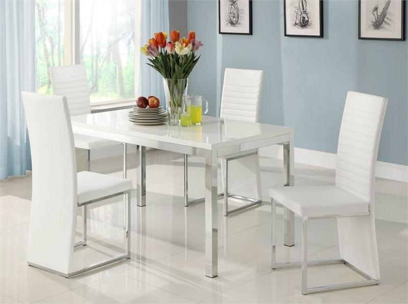 Most Popular Clarice Collection Dining Set In Contemporary Dining Sets (View 12 of 20)