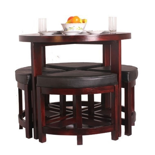 Most Popular Compact Dining Sets Throughout Eleganzze Compact Dining Table Set, Rs 19000 /set, Shreeji (View 12 of 20)