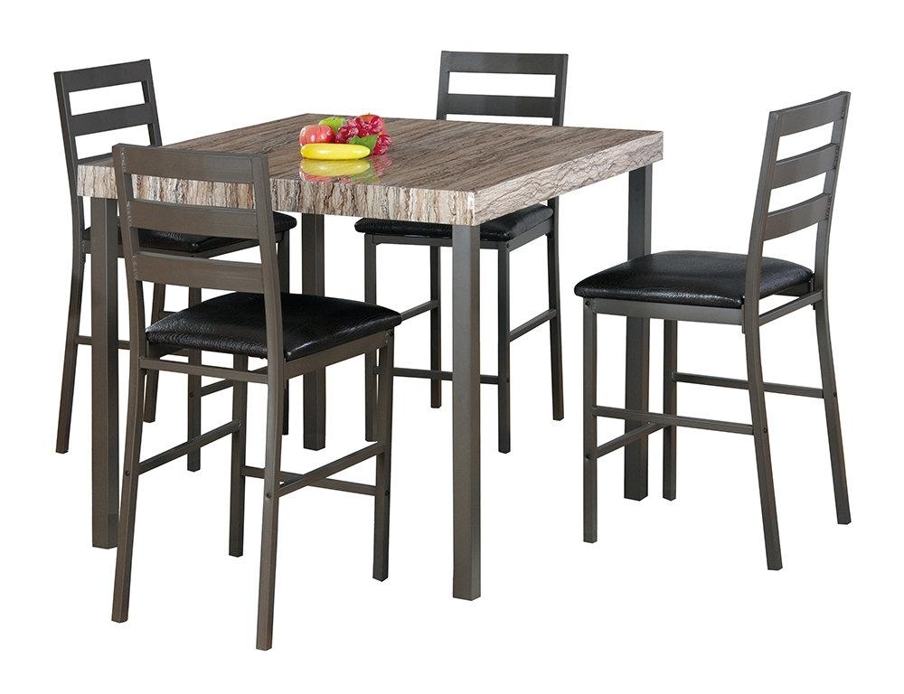 Most Popular Cora 5 Piece Dining Sets Inside Latitude Run Cora 5 Piece Bistro Dining Set (View 1 of 20)