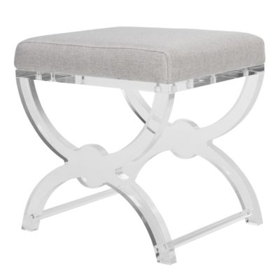 Most Popular Delfina Acrylic Ottoman – Safavieh Throughout Delfina Side Chairs (View 19 of 20)