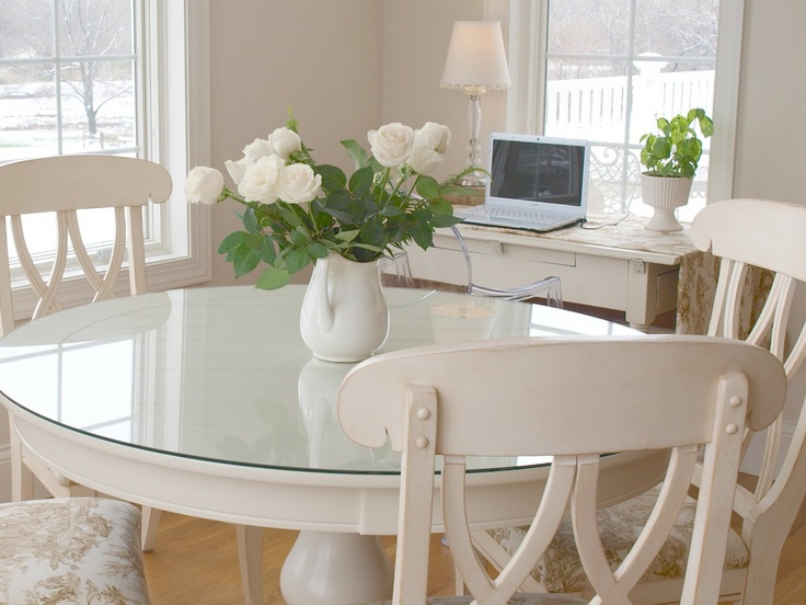 Most Popular Dining Room Round Glass Table And Chairs Dining Table And Bench Regarding Large White Round Dining Tables (View 12 of 20)