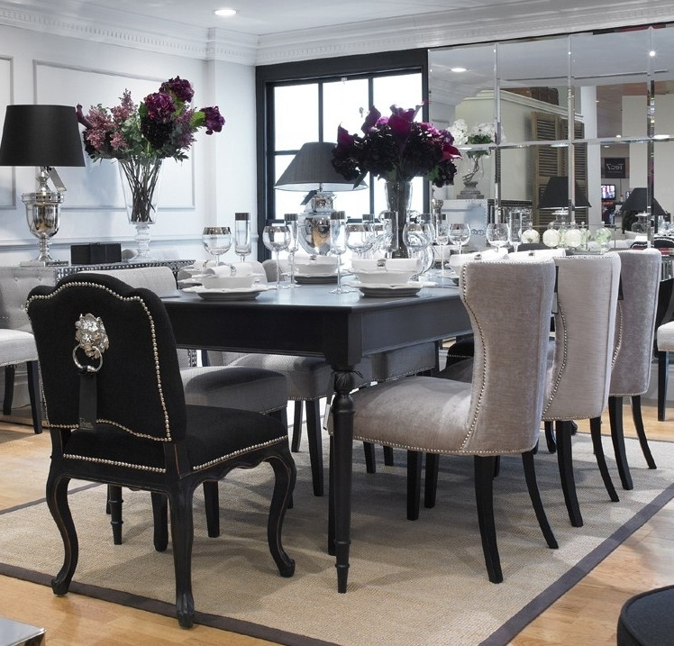 Most Popular Dining Table Black Set And White — The Home Redesign : Elegant Black With Regard To Black Dining Tables (View 14 of 20)