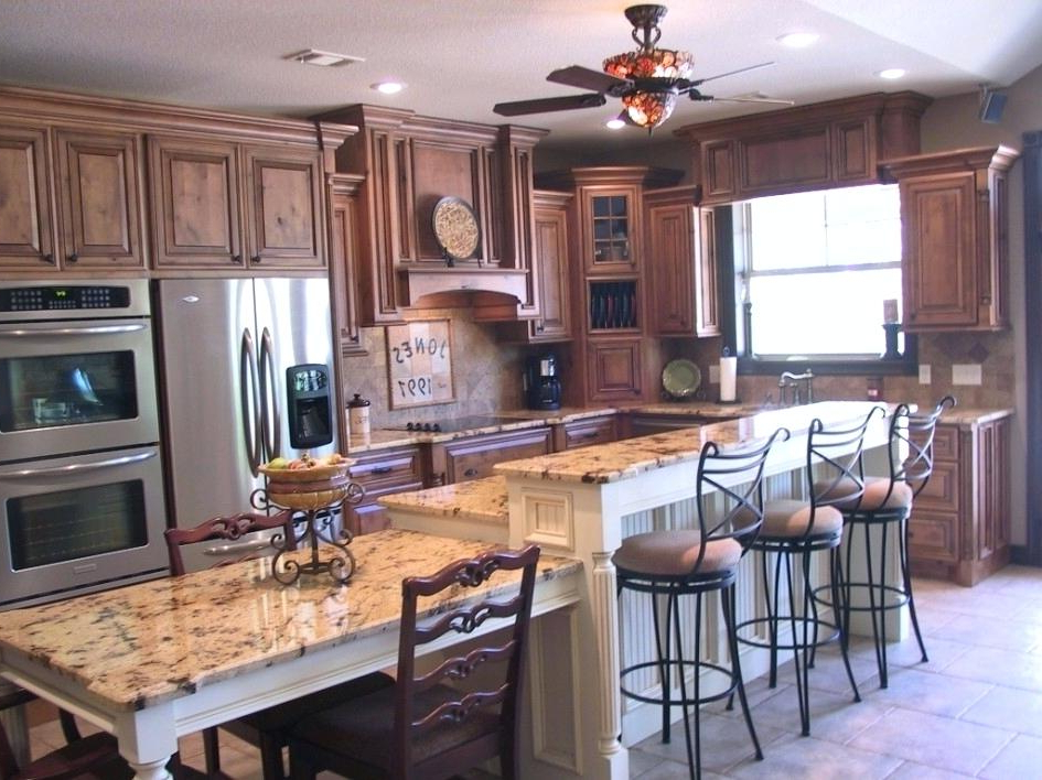 Most Popular Dining Tables With Attached Stools Within Kitchen Island With Table Attached Awe Inspiring Dining Of Wrought (View 12 of 20)